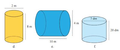 Hitung luas permukaan dan volume dari bangun tabung berikut ini