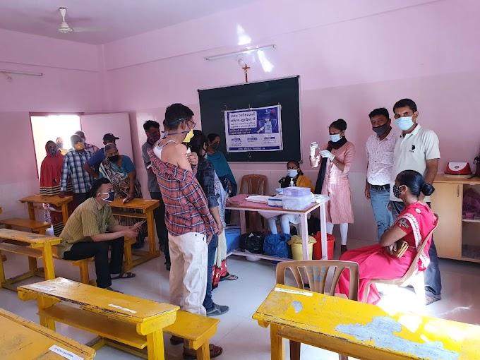 મુંદ્રામા યોજાયો રસીકરણ કેમ્પ અને ૧૧૦૦ લોકોએ કોરોનાની રસી લીધી