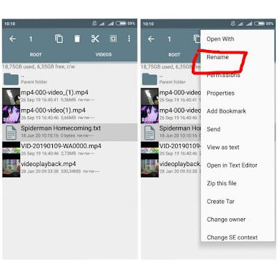 cara mengubah File Txt ke Mp4 di android