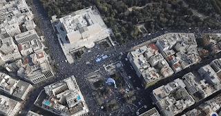 Νέα εναέρια βίντεο δείχνουν το μέγεθος του συλλαλητηρίου  - ΒΙΝΤΕΟ