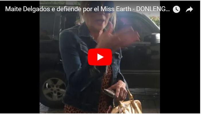 Maite Delgado se defiende tras críticas por animar el Miss Earth Venezuela 2018
