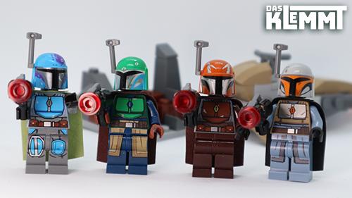 Die Hauptdarsteller des Mandalorian Battle Pack 75267 von LEGO® - www.dasklemmt.de