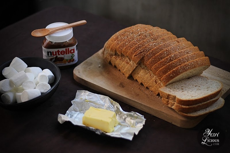 Nutella and Marshmallow Grilled Sandwich Easy Recipe By YedyLicious Manila Food Blog of Food Stylist, Writer, and Photographer Yedy Calaguas, Smores Sandwich, Grilled Chocolate Marshmallow Sandwich Recipe, Easy Sandwich Recipe, Easy Smores Recipe, Easy Nutella Recipe, Homemade Nutella Recipe, Easy Sandwich Recipe, Easy party Idea Recipes, YedyLicious Manila Philippines Food Blog, Top Best Food Blog in Manila Philippines YedyLicious, Top Best Food Blogger Manila Philippines Yedy Calaguas, Food Stylist Photographer Writer in Manila Philippines Yedy Calaguas Hiedi Lyn Calaguas Social Media Influencer Manila Philippines Easy Food Blog Recipes