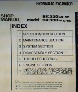 Sk330-6lc-6E sk330nlc-6E shop manual excavator kobelco