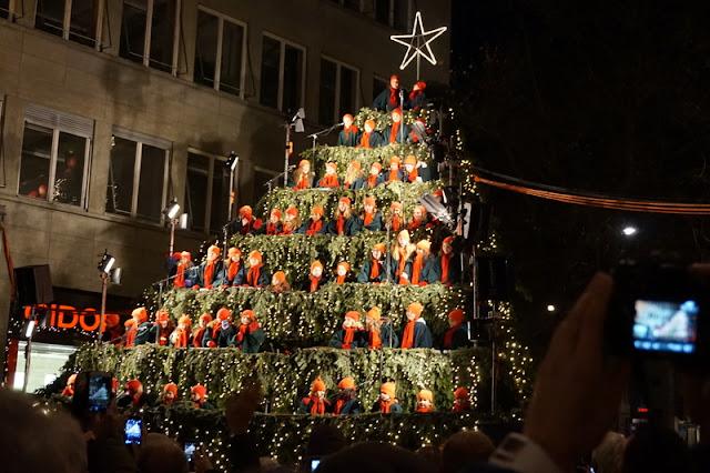 lapset joulu joulukuusi valot kuoro