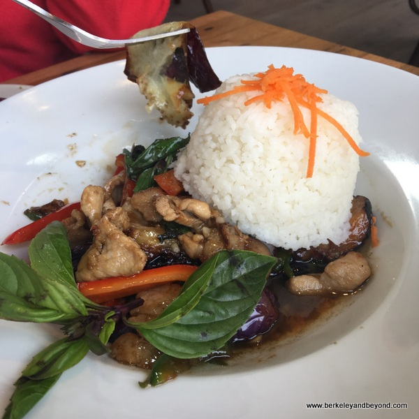 Pad spicy eggplant at Daughter Thai Kitchen in Oakland, California