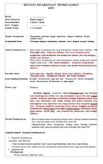 RPP Bahasa Inggris SD Kelas 1 Semester 1 dan 2