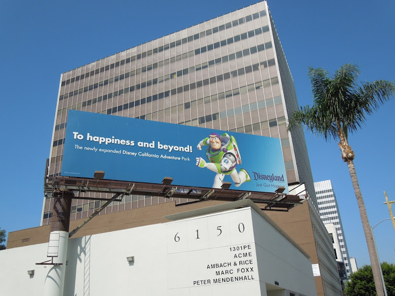 Buzz Lightyear Happiness beyond Disneyland billboard