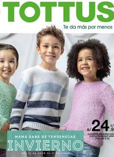 catalogo de ropa Tottus ropa kids otoño Invierno 2018