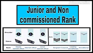 Junior and Non Commissioned officer Air force Rank in india.