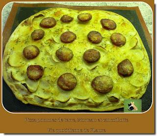 Vie quotidienne de FLaure : Pizza pommes de terre, Morteau et cancoillotte