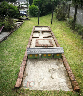 Crazy Golf course at Henllan Station in Newcastle Emlyn. Photo by Adam Dewar