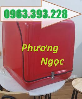 Thùng giao hàng sau xe máy, thùng chở hàng cỡ lớn, thùng chở cơm hộp,  84acfc8a32aec9f090bf