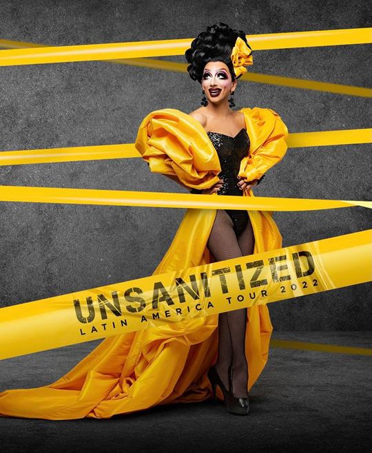 """Sucesso absoluto no RuPaul's Drag Race, BIANCA DEL RIO volta ao Brasil em 2022 com a sua nova turnê de stand-up comedy """"UNSANITIZED"""""""
