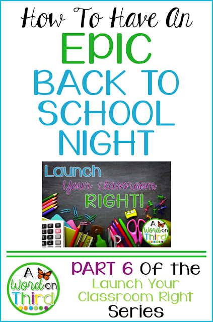 How To Have An Epic Back To School Night by A Word On Third