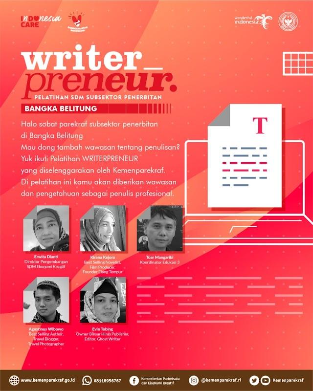 Halo Sobat Parekraf Subsektor Penerbitan di Bangka Belitung