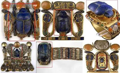 Sacred scarab beetle of Ancient Egypt