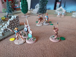 The Spartans and Athenian leaders trade blows