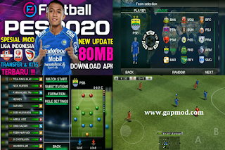 Download PES 2011 Mod PES 2020 Shopee Liga 1 Indonesia Transfers & Kits Update 2020