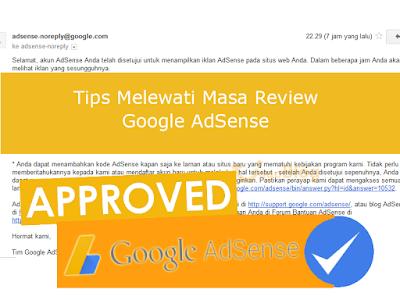 tips lewat review kedua google adsense jago blog
