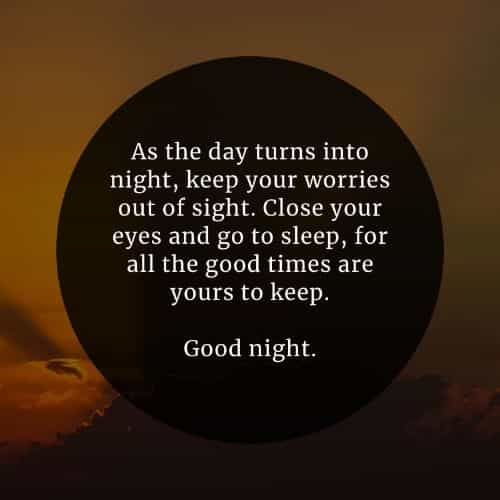 100 Beautiful good night inspirational quotes and sayings