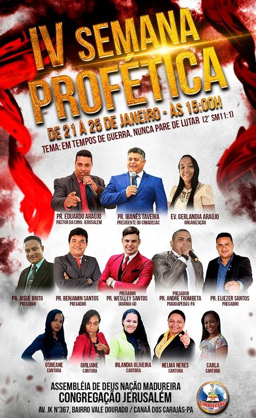 IV Semana Profética em Canaã dos Carajás-PA