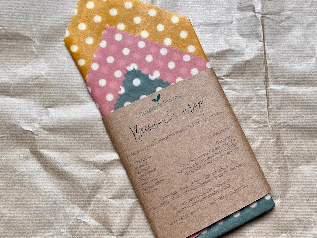 A pack of 3 beeswax wraps in blue, pink and yellow polka dot make a good practical eco friendly present