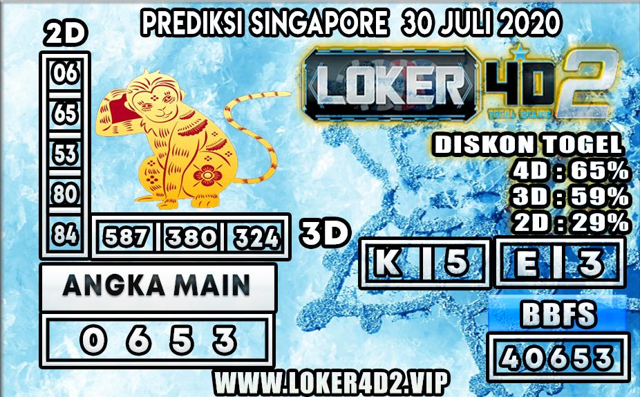 PREDIKSI TOGEL LOKER4D2 SINGAPORE 30 JULI 2020