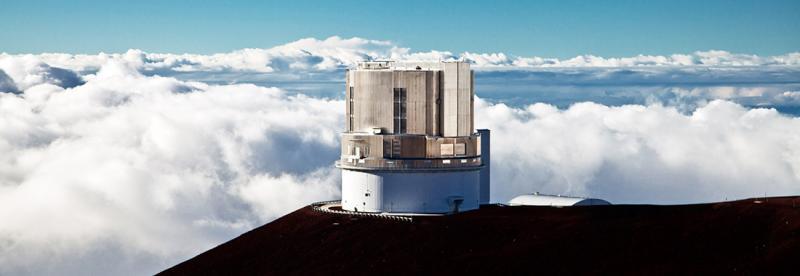 The Subaru Telescope in Hawaii. (Credit:NAOJ)