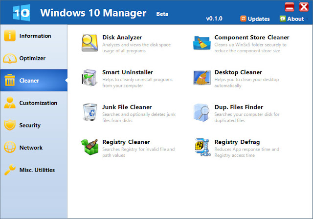 Windows 10 Manager Free Download