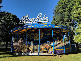 """Flying Bobs"" amusement ride on the Town Common"