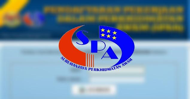 Permohonan SPA9 Jawatan Kosong Kerajaan 2021 Online