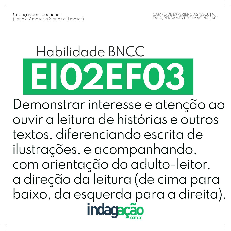 Habilidade EI02EF03 BNCC