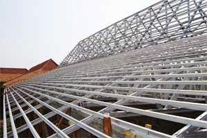 joglo dari baja ringan rangka atap makassar dan berat profil iwf h beam