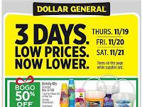 Dollar General Ad November 22 - 28, 2020 and 11/29/20