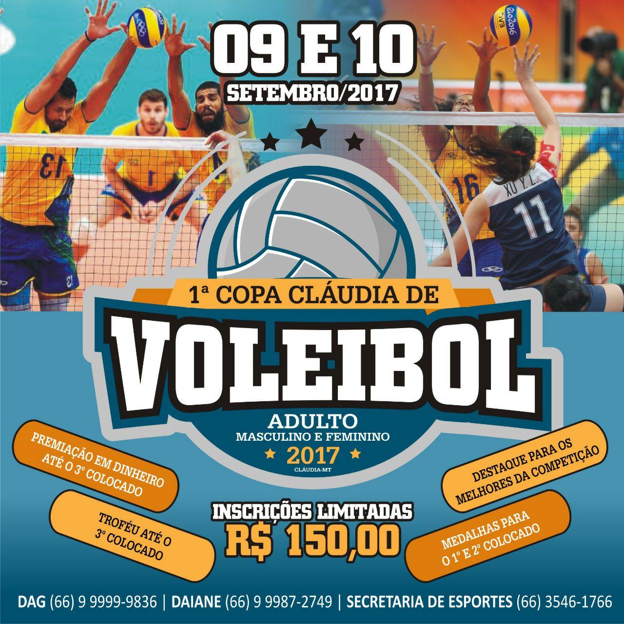 1ª copa Cláudia de voleibol adulto masculino e feminino começa ... 3c4a52bf98d9c