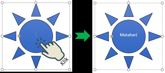 Cara 1 Menambahkan Teks ke Bentuk yang Dipilih