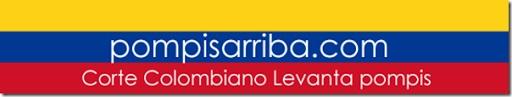 Colores de Bandera de Colombia con texto de Pompis Arriba .com