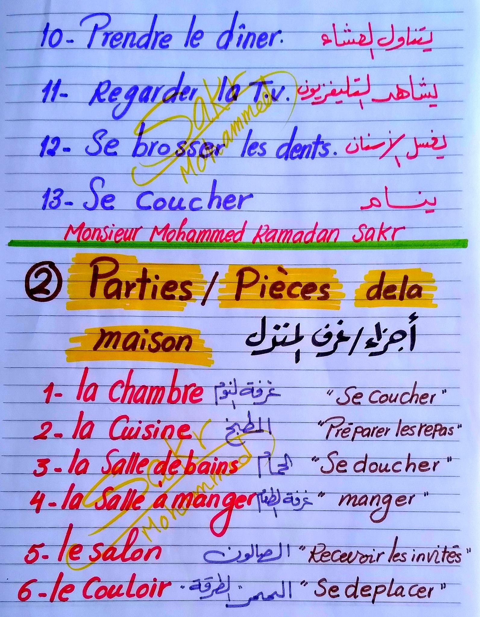 مراجعة لغة فرنسية للصف الثانى الثانوى ترم ثاني مسيو محمد رمضان 2