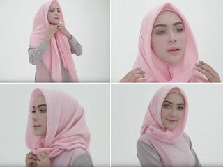 tutorial cara memakai  jilbab segitiga