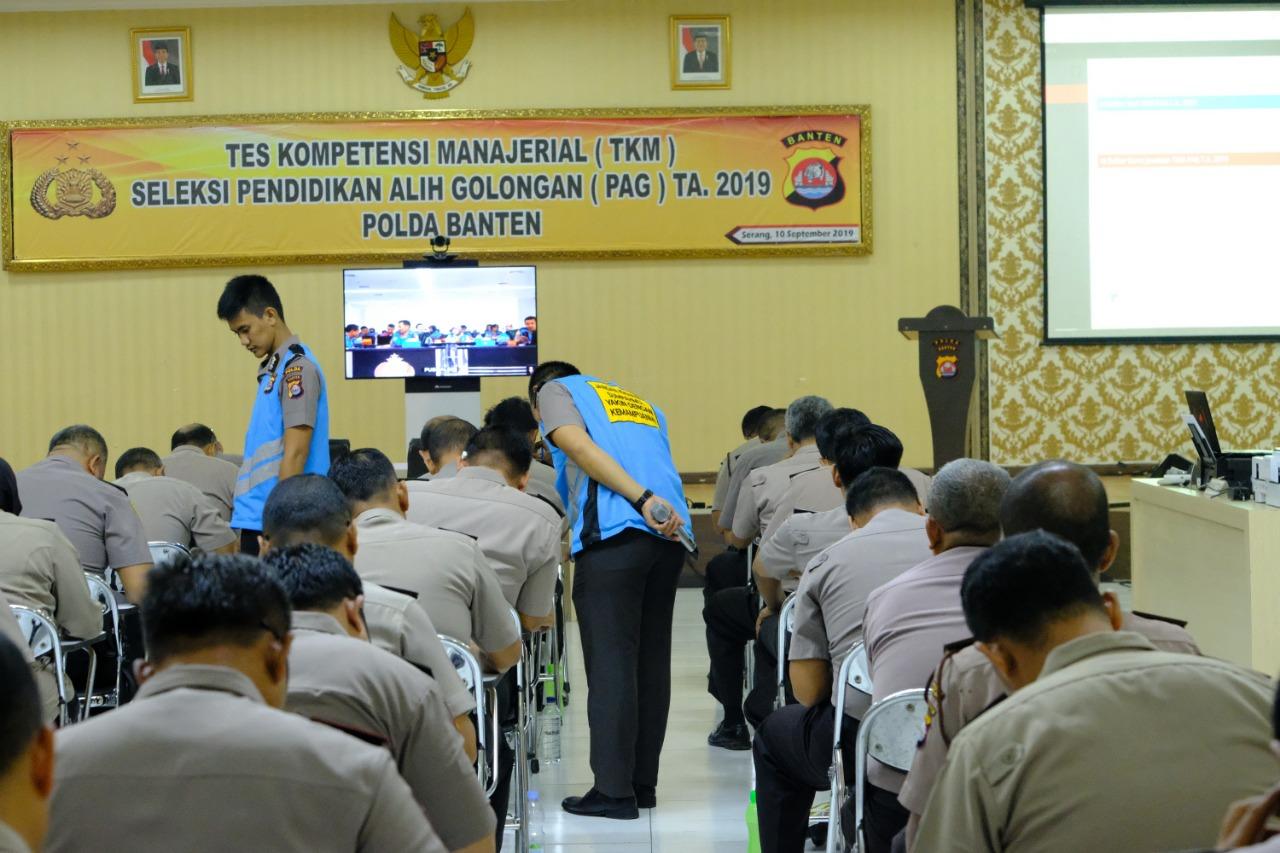 Peserta Seleksi PAG 2019 Polda Banten Jalani Tes Kompetensi Manajerial