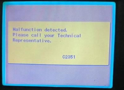Error C2351 Fotocopy Konica Minolta Bizhub 350