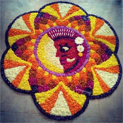 Best Onam Pookalam Design