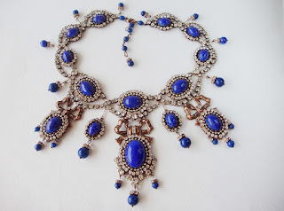statement jewelry, antique, princess necklace, festive jewelry