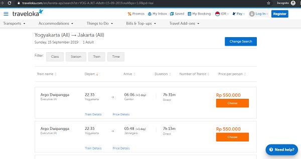 cari kereta menuju Jakarta disini