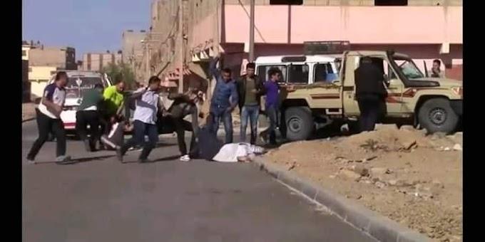 (VÍDEO). Policías marroquíes golpean y dejan parapléjicos a 3 jóvenes saharauis durante manifestación