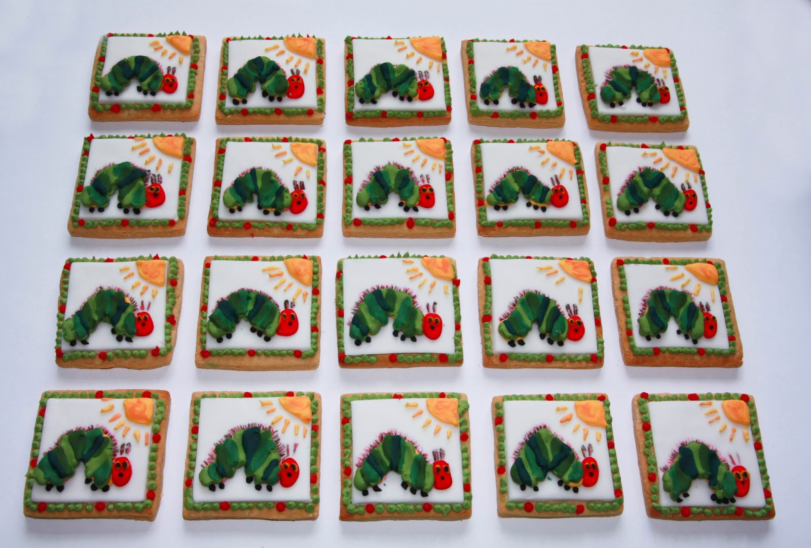 Very Hungry Caterpillar Wall Stickers The Cake Trail The Very Hungry Caterpillar Biscuits