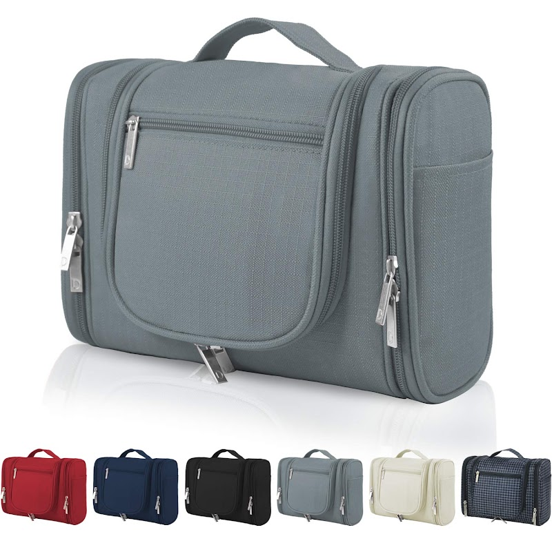 50% Off  Hanging Travel Toiletry Bag for Navy, Beige, Grey, Red