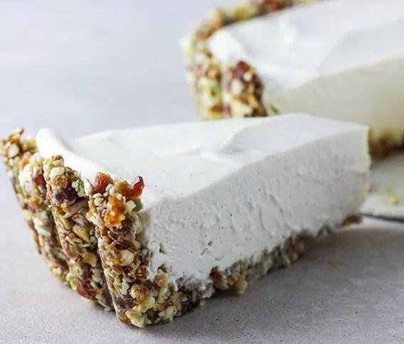 LIME AND VANILLA VEGAN CHEESECAKE #desserts #cake