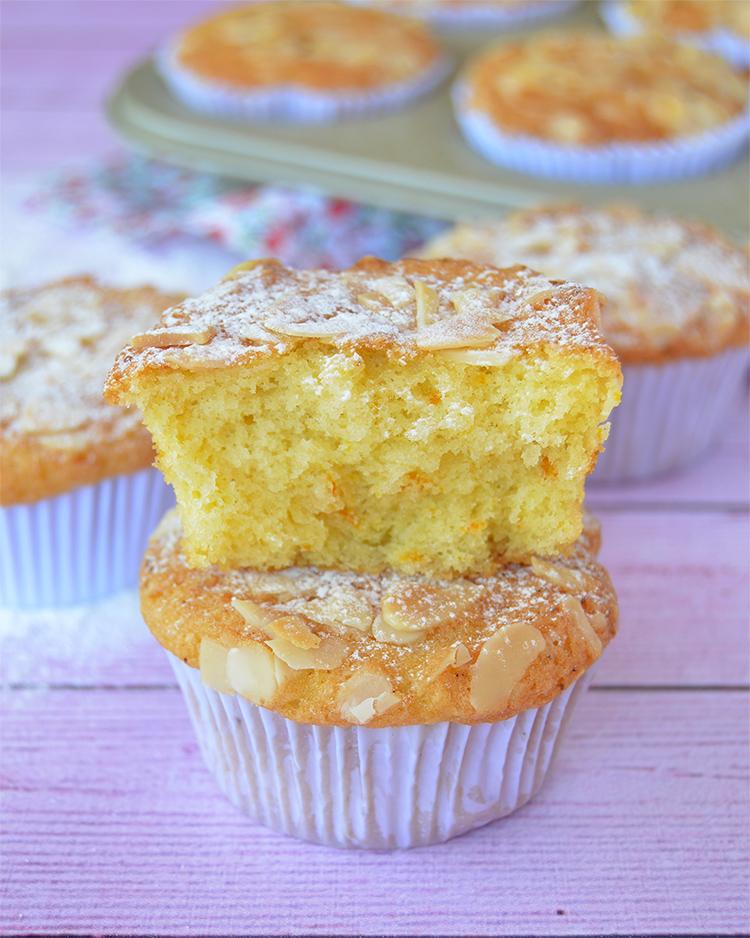 Muffins de naranja y almendras